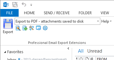 Outlook email to PDF conversion with MessageExport