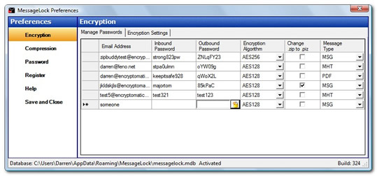 MessageLock email encryption