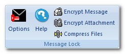 Email encryption toolbar Outlook 2007