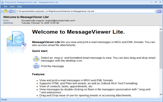 Message Viewer Lite Simple Msg And Eml File Viewer