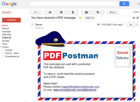 PDF Postman Outlook e-Mail Encryption Add-on